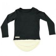 Bluza Double Top (unisex) - negru, 1-2 ani