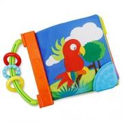 Malloom Libro infantil del bebé inteligencia desarrollo juguete conocer libros de niños paño animal de praderas y animales marinos (praderas)