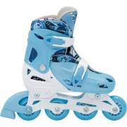 Patins In-Line Roller Kids Ajustável Azul - Tamanho M (32 a 35) - Bel Sports 367800