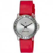 Fastrack Quartz Silver Round Women Watch NE9827PP08J