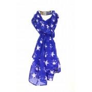 Blauwe sjaal met doodskoppen