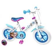 """Stamp RN240018NBA - Bicicletta da 12"""" (30,48 cm), con telaio in acciaio, sella con stampa, cerchioni in nylon colorati, pneumatici gonfiabili, stabilizzatori, parafango, freno anteriore e posteriore, conforme alla norma, motivo """"Frozen"""""""