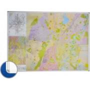 Harta magnetica, Bucuresti, 140x100 cm