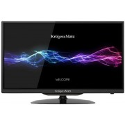 "Televizor LED Kruger&Matz 61 cm (24"") KM0224, HD Ready, CI + Lantisor placat cu aur si argint + Cartela SIM Orange PrePay, 6 euro credit, 4 GB internet 4G, 2,000 minute nationale si internationale fix sau SMS nationale din care 300 minute/SMS internationa"