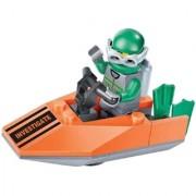 Magideal Navy Seals Minifigures Speed Powerboat Building Blocks Kids Educational Toys