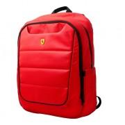 Ferrari Scuderia Backpack - дизайнерска водоустойчива ергономична раница за преносими компютри до 15.6 инча (червена)