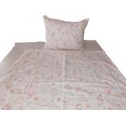 Princess (hercegnők) mintás 2 részes 100% pamut ágynemű huzat