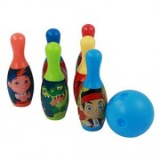 Jake and the Never Land Pirates 6 Pin Interactive Play Toy Bowling Set