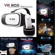 Original Rokea VR Box 2.0 With FREE Bluetooth Remote Controller - VR Box with Remote - 3D VR Headset - Virtual Realty Glasses with Adjustable Lenses - Virtual Reality Gear - 3D VR Glasses - Light Weight Product - Inspired by Google Cardboard - Plays 3D Mo