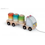 Fa húzogatós kamion Multi Colors Truck Janod karikákkal 2 éves kortól