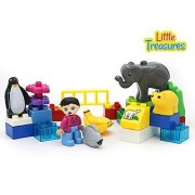 Zoo Keeper Building Brick 23 Piece Set - Bricks Are Interchangeable with Duplo and all Major Brands - Bricks Are Tight F