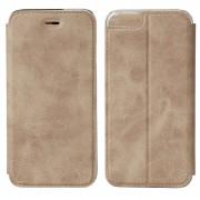 Husa de piele book Nevox Vario pentru Apple iPhone 6/6s, Sand Beige