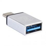 Adaptor USB 3,0 la USB 3,1 Type-C Argintiu