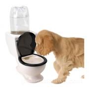 Ciotola per l'acqua a forma di WC - Per cani e gatti