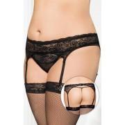 Garterbelt 3305 - Plus Size - black {} XL