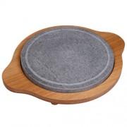 Piedra Redonda + soporte madera