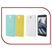Сотовый телефон Alcatel OneTouch 5070D POP Star White Yellow Green