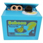 Virtuous Cute Stealing Money Box Coin Bank / Cool Gadgets Electronic Monkey - Novelty Toys Plastic Saving Piggy Bank For
