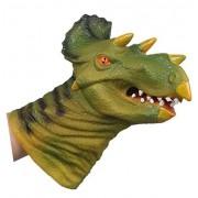 Childrens Home New Design VINYL Triceratops Head Shape Hand Puppet Toys Simulation Animal Head Children Toys