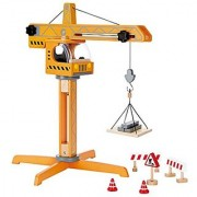 Hape Crane Lift Kid's Wooden Construction Toys Set