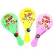 Lot De 3 Mini Tap Ball Chien Vert Rose Jaune 18 X 9 Cm Raquette + Balle 60gr Code 238600099