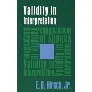 Validity in Interpretation by Jr. E. Hirsch