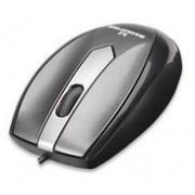 Mini Mouse Manhattan Óptico MO1, USB, 1000DPI, Gris