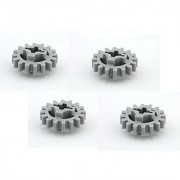 Lego Parts: Technic Gear 16 Tooth (New Style Reinforced) (PACK of 4 - LBGray)