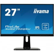 "Monitor IPS LED iiyama 27"" XUB2792QSU-B1, WQHD (2560 x 1440), DVI, HDMI, DispalyPort, 5 ms, Boxe (Negru)"