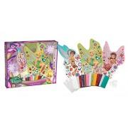 Orb Factory Orb11088 - Gioco con adesivi, Mosaico colorato delle fatine Disney Roselia Noa e Campanellino