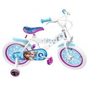 """Stamp-Rn240027se-Bicicletta, """"La regina delle nevi, con cornice in acciaio-Sella con design stampato, gomme gonfiabili, stabilizzanti, Guardia fanghi-Freni anteriori e posteriori, Conforme alla norma, 16"""""""
