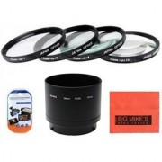 72mm Close-Up Filter Set (+1 +2 +4 and +10 Diopters) Magnification Kit - Metal Rim For Nikon Coolpix P530 Digital Camera + Filter Adapter + More!!