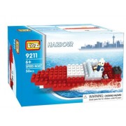 Loz Micro Blocks, Speed Boat Model, Small Building Block Set, Nanoblock Compatible (50 pcs), Makes a
