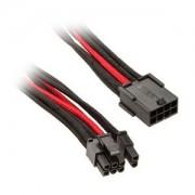 Cablu prelungitor Silverstone 8-pini (6+2-pini) PCIe, 25cm, Black/Red, PP07-PCIBR