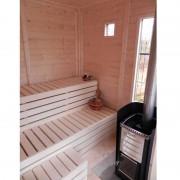VB ITALIA Sauna finlandese da esterno SAUNACUBE in abete fino a 10 persone