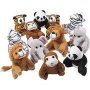 Stuffed Toy Set of 12 Plush Animals Includes a Plushed Bear Lion Monkey and Much More