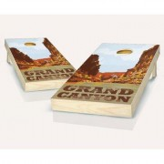 AJJCornhole Grand Canyon Cornhole Set 107-NP-Grand Canyon with red/ bags Bean Bag Color: Red/Orange