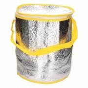Ronde koeltas aluminium geel 26 cm