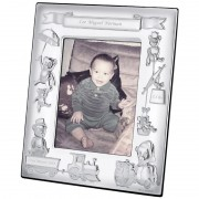 Babies Photo Frame, Sterling Silver Name, Date & Weight Engraving Available