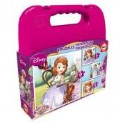 Educa Disney Sofia hercegnő puzzle táskában, 4 az 1-ben