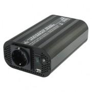 HQ módosított színusz hullámú inverter 400 W 12 V + USB (HQ-INV400WU-12)