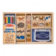 Melissa&Doug - Set de stampile cu Animale
