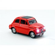 Myš CLICK CAR MOUSE Fiat 500 Oldtimer Red (USB Wired)