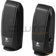 BOXE Logitech 2.0 'S120' OEM RMS power: 2.3 W (1.15W x 2), Black '980-000010'