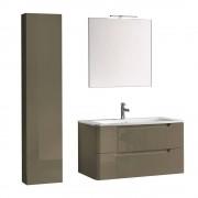 tft Mobile Da Bagno Sospeso Palma 01 Grigio Beige Laccato Tft Home Furniture