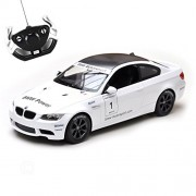 Toyshine Rastar 1:14 BMW M3 Remote Control Car, White