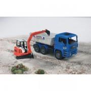 Camion cu bena si miniexcavator