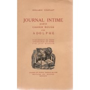 Journal Intime Précédé Du Cahier Rouge Et De Adolphe