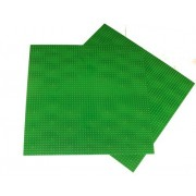 "2 Pack Green Lego Compatible X Large Baseplate, Building Base Plate, 50x50 Studs (15""X15""),Construction Base Plates, 50x50 Studs (15""X15""), Great For Activity Table Or Displaying Construction Toy"