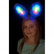 Lichtgevende bunny oren blauw